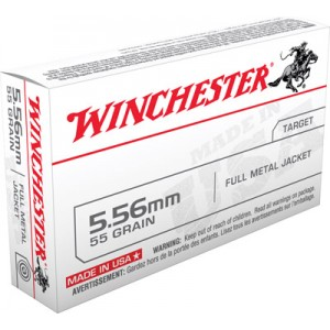 Winchester Q Series .223 Remington/5.56 NATO Full Metal Jacket, 55 Grain (20 Rounds) - Q3131