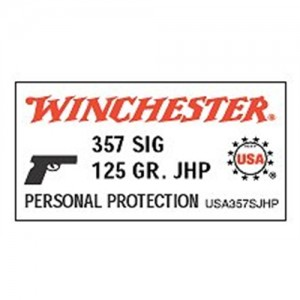 Winchester .357 Sig Sauer Jacketed Hollow Point, 125 Grain (50 Rounds) - USA357SJHP