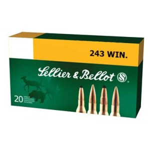 Sellier & Bellot .243 Winchester Soft Point, 100 Grain (20 Rounds) - SB243A