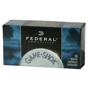 Federal Cartridge Game-Shok Target .22 Long Rifle Copper Plated Solid Point, 40 Grain (100 Rounds) - 810