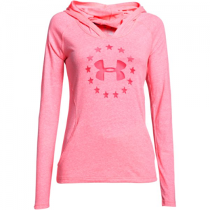 Under Armour Freedom Triblend Women's Pullover Hoodie in Harmony Red - Medium