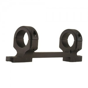 "DNZ Products 1"" Medium Short Action Matte Black Base/Rings/Savage Round Receiver 20200"