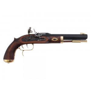 "Traditions P1090 Trapper Flintlock 50 BP 9.75"" Barrel Prim/Blade Hardwood Stock"