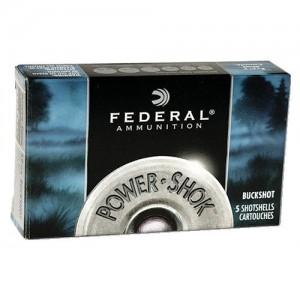 "Federal Cartridge Power-Shok .20 Gauge (3"") 18 Pellets of ""00"" Buck Shot Lead (5-Rounds) - F2072B"