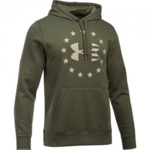 Under Armour Freedom BFL Rival Men's Pullover Hoodie in Marine OD Green - 2X-Large