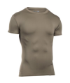 Under Armour HeatGear Tee Men's Compression Shirt in Federal Tan - Small