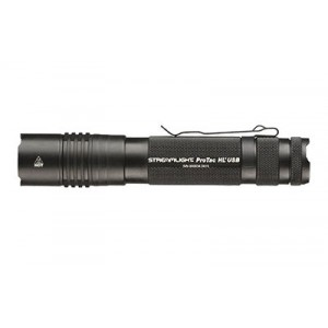 Streamlight Pro Tac Hl Usb, Rechargeable Light, C4 Led, 850 Lumens, Ten-tap Programming, 1x 18650/2x Cr123/1x 74175 Battery, Includes Usb Charging Cord, Nylon Holster, Black 88052