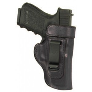 "Don Hume H715m Clip-on Holster, Inside The Pant, Fits Xd With 4"" Barrel, Right Hand, Black Leather J168746r - J168746R"