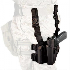 "Blackhawk Serpa Left-Hand Thigh Holster for Beretta 92 in Matte Black (5"") - 430504BK-L"