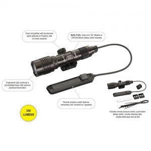 Black, Weapon-Mounted Flashlight