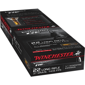 Winchester .22 Long Rifle Hollow Point 3/1 Segmenting Core, 37 Grain (50 Rounds) - S22LRFSP