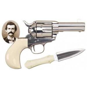 "Cimarron Doc Holiday .45 Long Colt 6-Shot 3.5"" Revolver in Nickel - CA346DOC"