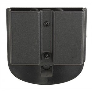 Uncle Mike's Double Row/Double Magazine Case w/Belt Clip in Black Smooth Kydex - 51361