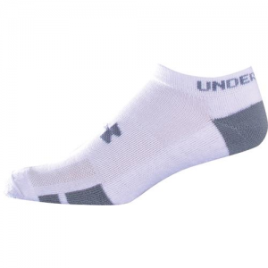 UA Resistor III No Show Color: White Size: 9-11