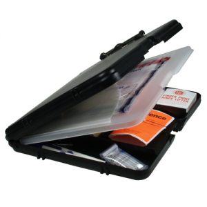 Tactical organizer, black with charcoal hinge, Letter/A4 size