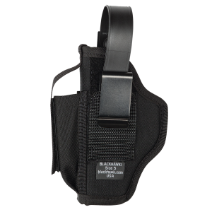 "Blackhawk Multi-Use Ambidextrous-Hand Belt Holster for Small 5/6-Shot Revolvers in Black (4"") - 40AM02BK"