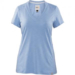 5.11 Tactical Zig Zag V-Neck Women's T-Shirt in Skyway - Medium