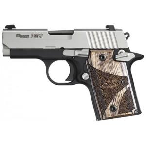 "Sig Sauer P938 Micro-Compact SAS 9mm 6+1 3"" Pistol in Black Nitron (Custom Walnut Grip) - 9389SASAMBI"