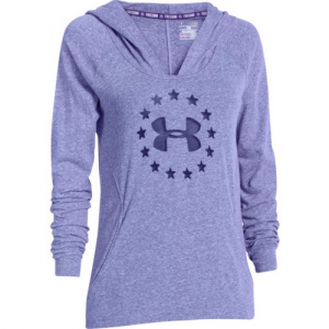 Under Armour Freedom Triblend Women's Pullover Hoodie in Purpleheart - Large