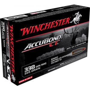 Winchester Supreme .338 Winchester Magnum AccuBond CT, 225 Grain (20 Rounds) - S338CT