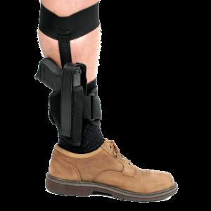 "Blackhawk Ankle Left-Hand Ankle Holster for Small 5-Shot Revolvers in Black (2"") - 40AH00BKL"