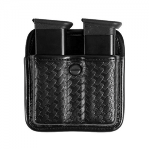 AccuELITE TRIPLE THREAT II POU  7922 Triple Threat II Magazine Pouch Horizontal or Vertical carry Trilaminate construction with Coptex knit lining Adjustable tension screw Duraskin finish Slides on 2.25  belt slot Basket Black Fits Glock