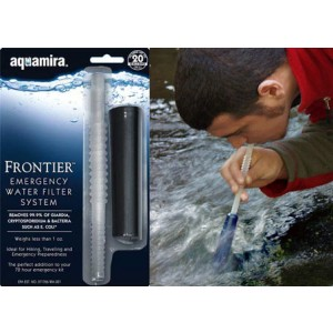 Miraguard Compact Frontier Aquamira Water Treatment Black/clear Filters 20 Gallons 67005