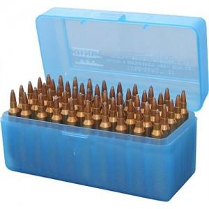 MTM 50 Round Blue Large Rifle Ammo Box RLLD5024