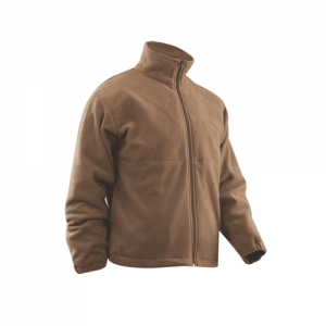 Tru Spec Polar Fleece Men's Full Zip Jacket in Coyote - 2X-Large
