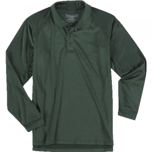 5.11 Tactical Performance Men's Long Sleeve Polo in LE Green - Large