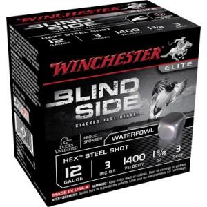"Winchester Blindside Waterfowl .12 Gauge (3"") 3 Shot Steel (250-Rounds) - SBS1233"