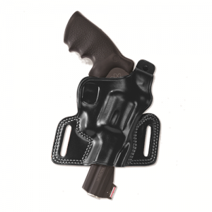 """Galco International Silhouette High Ride Right-Hand Belt Holster for Ruger Security Six in Black (4"""") - SIL114B"""