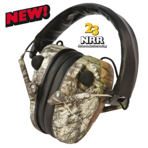 Caldwell E-Max Low Profile Mossy Oak Electronic Hearing Protection 487200
