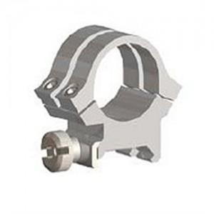 Weaver High Scope Rings w/Silver Finish 49056