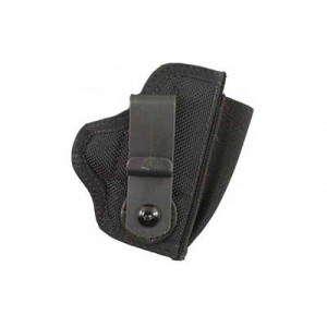 Desantis Gunhide M42 Tuck This II Right-Hand Belt Holster for Kahr Arms Pm9/40/45 in Black Leather (W/ Crimson Trace) -