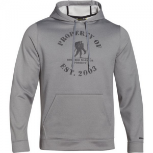 Under Armour Property Of Men's Pullover Hoodie in True Gray Heather - 3X-Large