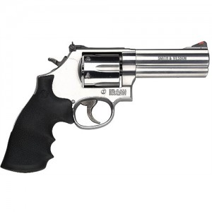 "Smith & Wesson 686 .357 Remington Magnum 6-Shot 4"" Revolver in Satin Stainless (Distinguished Combat) - 164222"