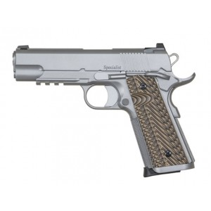"""Dan Wesson Specialist Commander 9mm 10+1 4.25"""" 1911 in Matte Stainless - 01896"""
