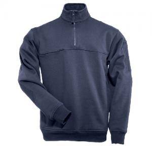 5.11 Tactical Job Shirt Men's 1/4 Zip Jacket in Fire Navy - 2X-Large
