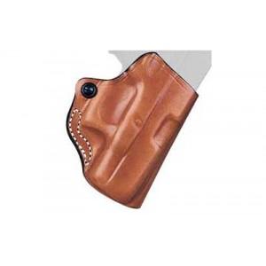 Desantis Gunhide 19 Mini Scabbard Right-Hand Belt Holster for Glock 43 in Tan Leather - 019TA8BZ0