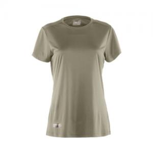 Under Armour HeatGear Women's Long Sleeve Compression Tee in Desert Sand - Medium