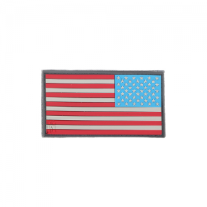 Reverse USA Flag Patch Small
