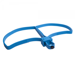 This single-use foldable double-restraint cuff allows for better control and is more humane and hygienically safer than standard metal cuffs