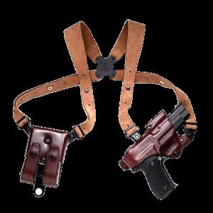 Galco JR202H Jackass 202H Adjustable Havana Brown Leather w/ Suede Harness - JR202H