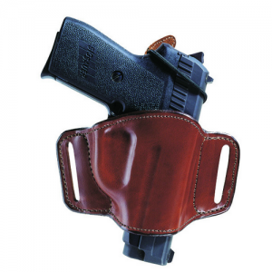 MINIMALIST BLK RH SZ13/15 SIGA  105 Minimalist w/ Slots Holster For Small Frame Revolvers Small/Med/Large Frame Semiautos Minimalist design with elastic loop firearm retainer tab Suede lined with border stitching Belt slide design for a low profile look S
