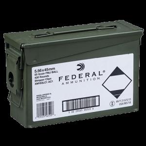 Federal Cartridge XM .223 Remington/5.56 NATO Full Metal Jacket, 55 Grain (20 Rounds) - XM193LCAC1