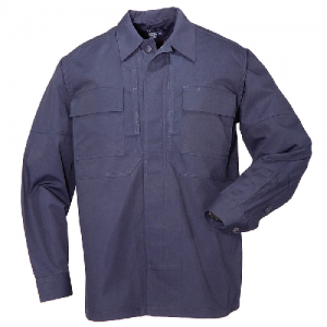 5.11 Tactical TDU Men's Long Sleeve Uniform Shirt in Dark Navy - 4X-Large