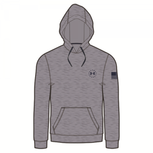 Under Armour Charged Cotton Storm Men's Pullover Hoodie in True Gray Heather - Large