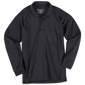5.11 Tactical Performance Men's Long Sleeve Polo in Black - Large