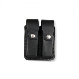 Boston Leather 5640-1-N Black Plain Glove//CPR Shield Pouch Snap